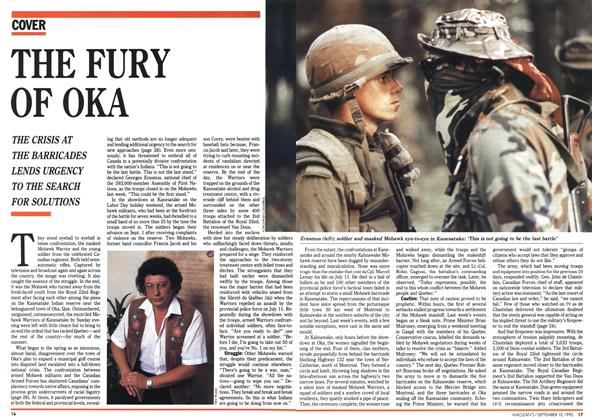 Article Preview: THE FURY OF OKA, September 1990 | Maclean's