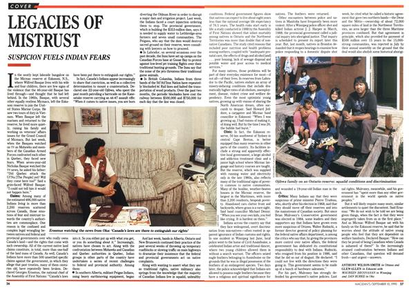 Article Preview: LEGACIES OF MISTRUST, September 1990 | Maclean's