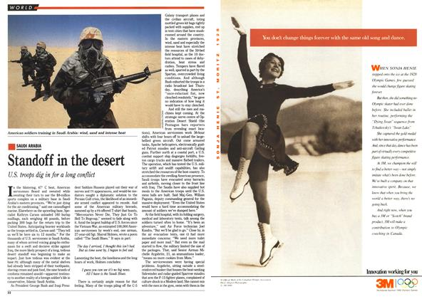 Article Preview: Standoff in the desert, September 1990 | Maclean's