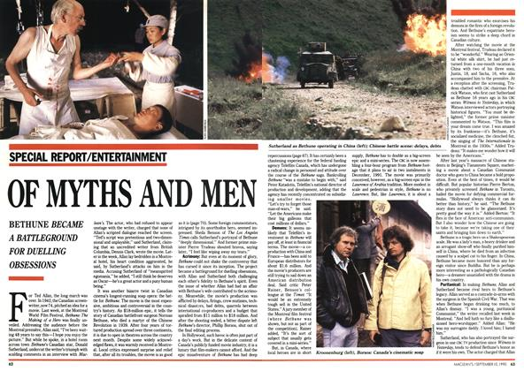 Article Preview: OF MYTHS AND MEN, September 1990 | Maclean's