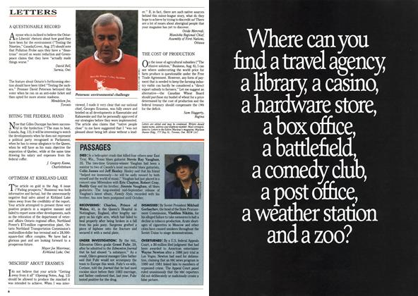 Article Preview: LETTERS, September 1990 | Maclean's