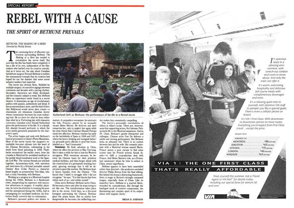 Article Preview: REBEL WITH A CAUSE, September 1990 | Maclean's