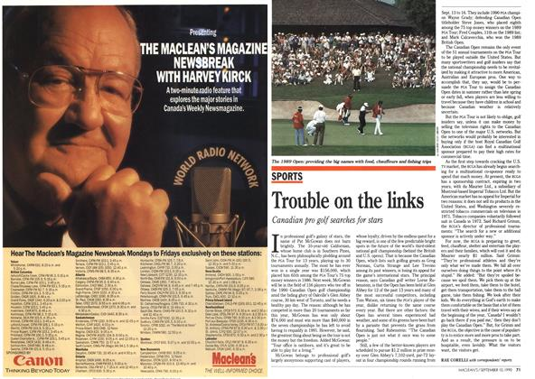 Article Preview: Trouble on the links, September 1990 | Maclean's