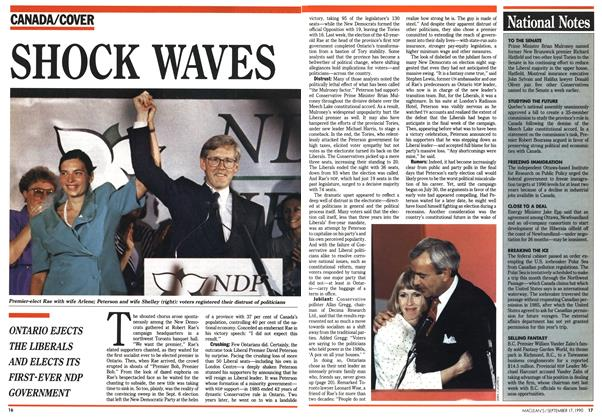 Article Preview: SHOCK WAVES, September 1990 | Maclean's