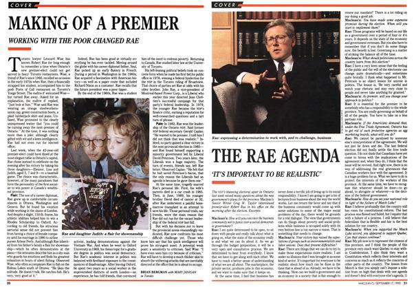 Article Preview: MAKING OF A PREMIER, September 1990 | Maclean's
