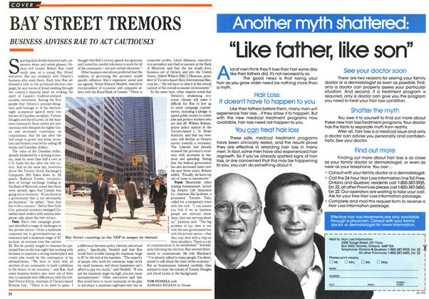 Article Preview: BAY STREET TREMORS, September 1990 | Maclean's