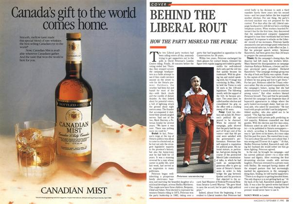 Article Preview: BEHIND THE LIBERAL ROUT, September 1990 | Maclean's