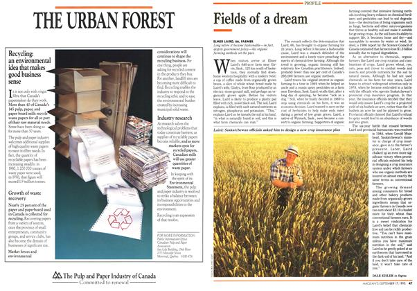 Article Preview: Fields of a dream, September 1990 | Maclean's