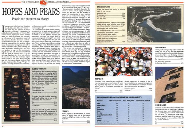 Article Preview: HOPES AND FEARS, September 1990 | Maclean's