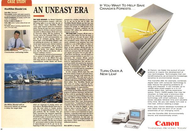 Article Preview: AN UNEASY ERA, September 1990 | Maclean's
