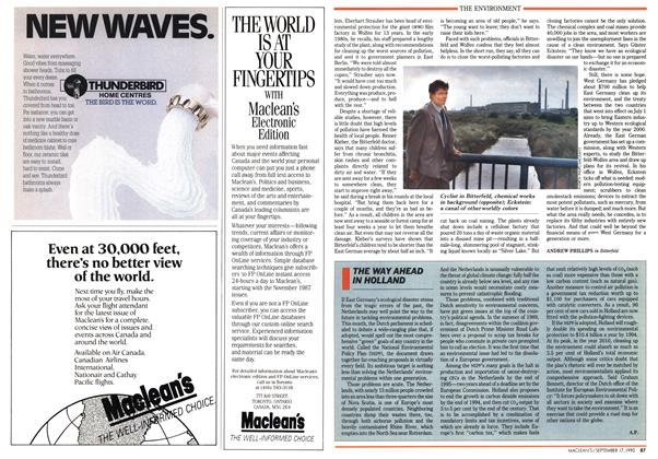 Article Preview: THE WAY AHEAD IN HOLLAND, September 1990 | Maclean's