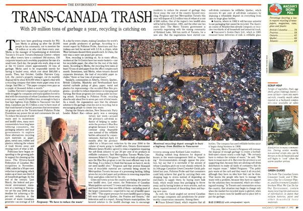 Article Preview: TRANS-CANADA TRASH, September 1990 | Maclean's