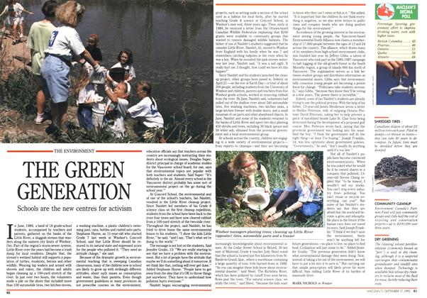 Article Preview: THE GREEN GENERATION, September 1990 | Maclean's
