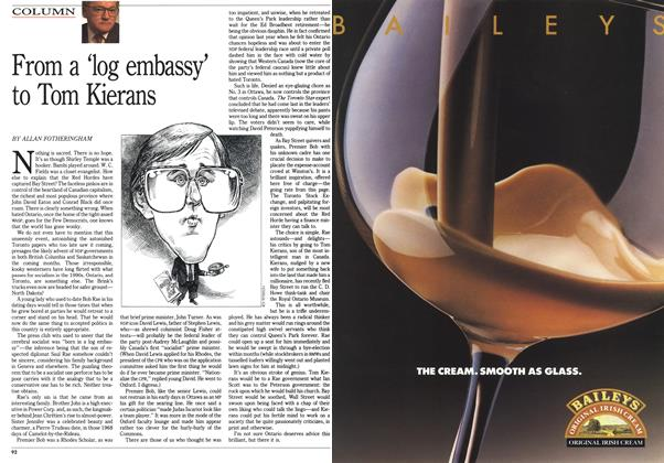 Article Preview: From a 'log embassy' to Tom Kierans, September 1990 | Maclean's
