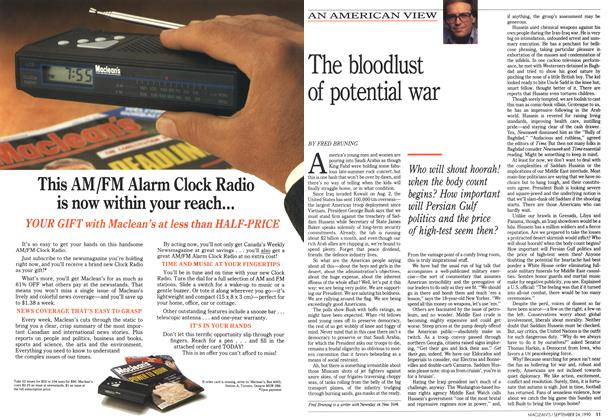 Article Preview: The bloodlust of potential war, September 1990 | Maclean's