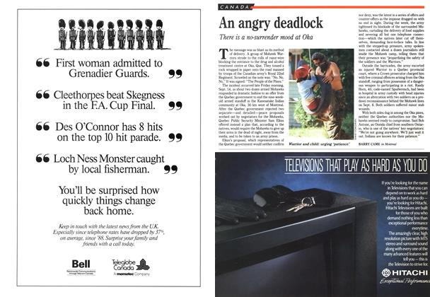 Article Preview: An angry deadlock, September 1990 | Maclean's
