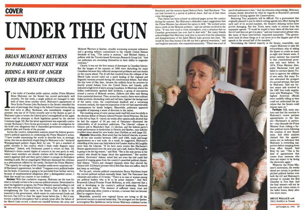 Article Preview: UNDER THE GUN, September 1990   Maclean's
