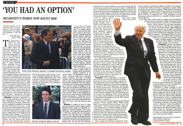 Article Preview: 'YOU HAD AN OPTION', September 1990 | Maclean's
