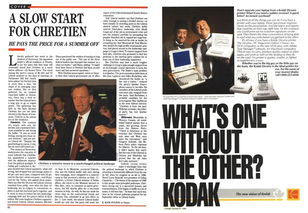 Article Preview: A SLOW START FOR CHRETIEN, September 1990 | Maclean's