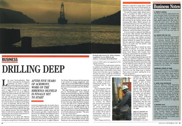 Article Preview: DRILLING DEEP, September 1990 | Maclean's