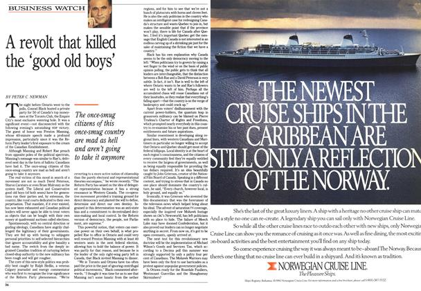 Article Preview: A revolt that killed the 'good old boys', September 1990 | Maclean's