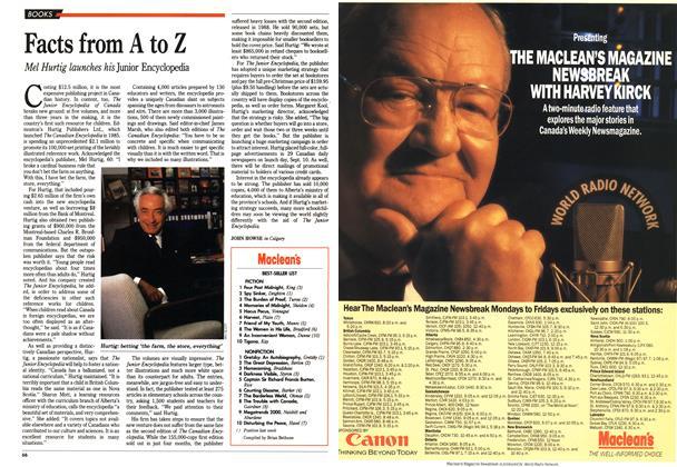 Article Preview: Maclean's BEST-SELLER LIST, September 1990 | Maclean's