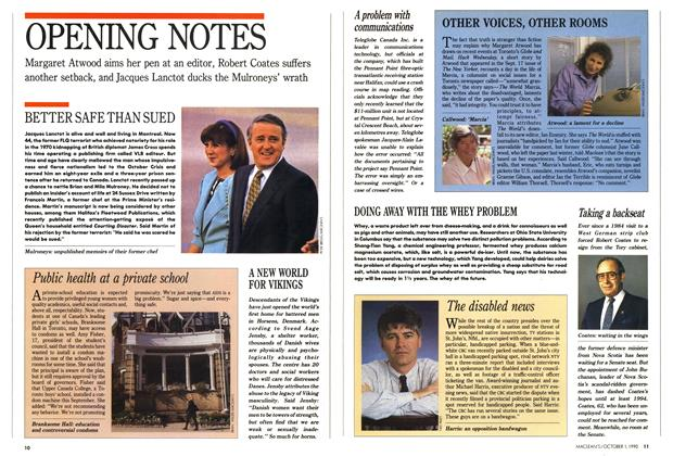 Article Preview: OPENING NOTES, October 1990 | Maclean's