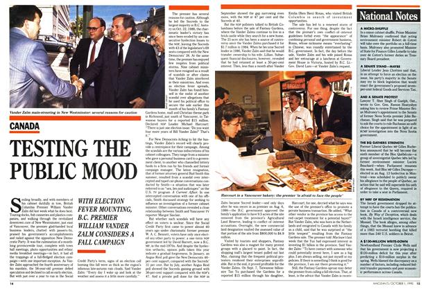Article Preview: TESTING THE PUBLIC MOOD, October 1990 | Maclean's
