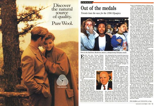 Article Preview: Out of the medals, October 1990 | Maclean's