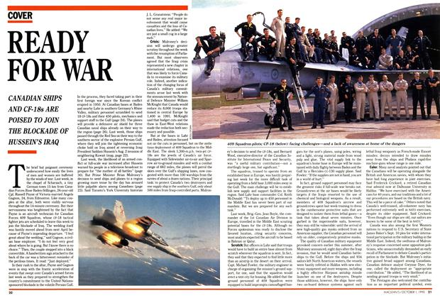 Article Preview: READY FOR WAR, October 1990 | Maclean's