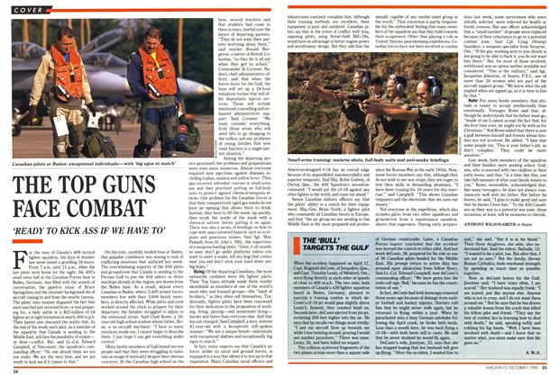 Article Preview: THE TOP GUNS FACE COMBAT, October 1990 | Maclean's