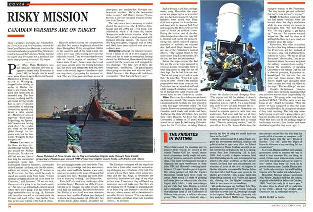 Article Preview: THE FRIGATES IN WAITING, October 1990 | Maclean's