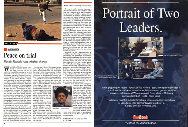 Article Preview: Peace on trial, October 1990 | Maclean's