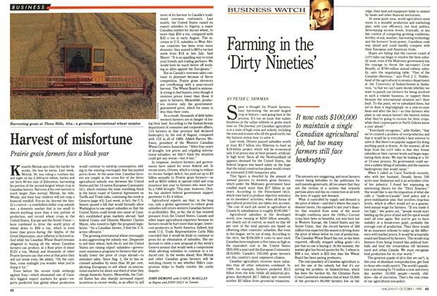 Article Preview: Harvest of misfortune, October 1990 | Maclean's