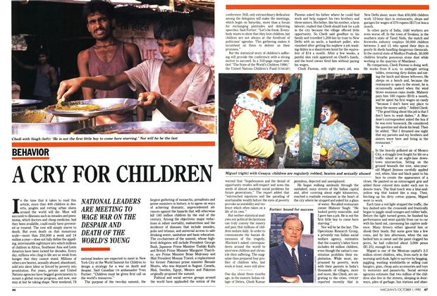Article Preview: A CRY FOR CHILDREN, October 1990 | Maclean's