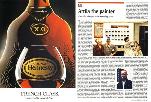 Article Preview: Attila the painter, October 1990 | Maclean's
