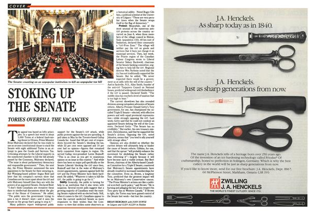 Article Preview: STOKING UP THE SENATE, October 1990 | Maclean's