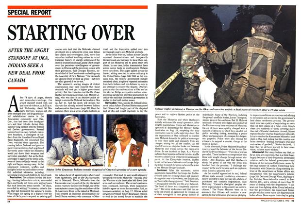 Article Preview: STARTING OVER, October 1990 | Maclean's