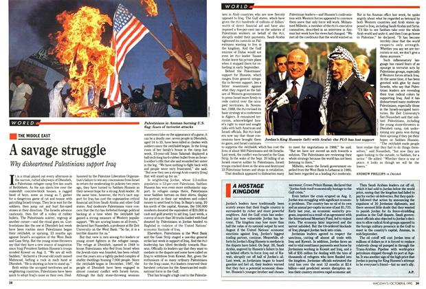 Article Preview: A savage struggle, October 1990 | Maclean's