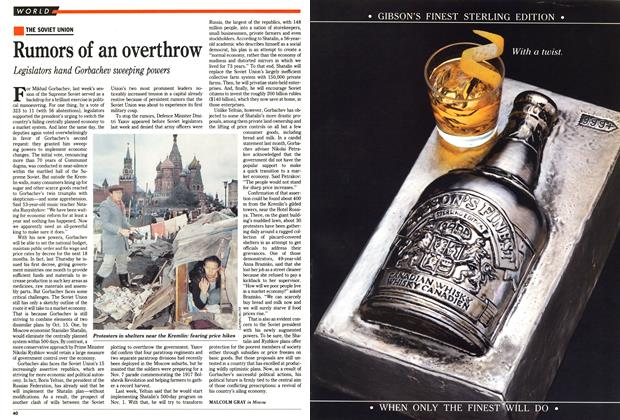 Article Preview: Rumors of an overthrow, October 1990 | Maclean's