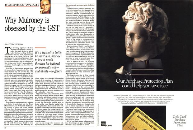 Article Preview: Why Mulroney is obsessed by the GST, October 1990 | Maclean's