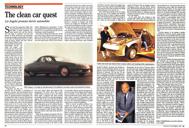 Article Preview: The clean car quest, October 1990 | Maclean's