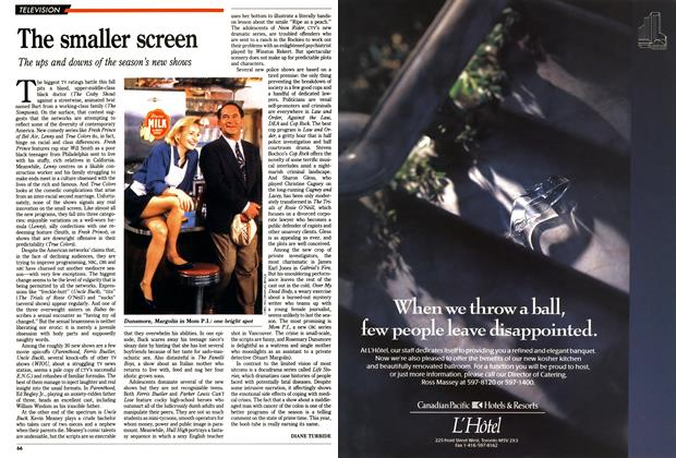 Article Preview: The smaller screen, October 1990 | Maclean's
