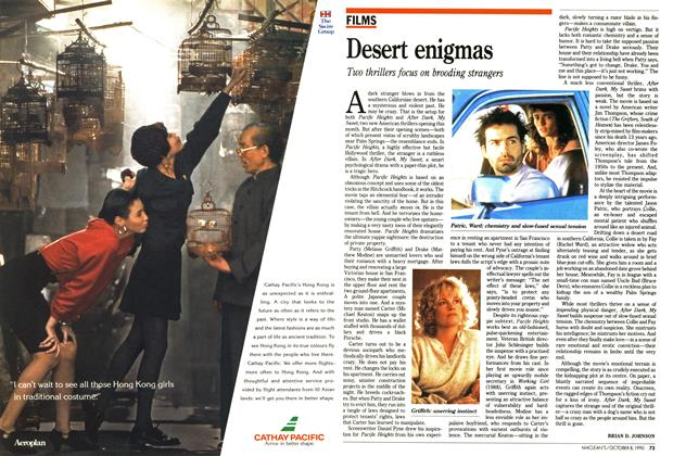 Article Preview: Desert enigmas, October 1990 | Maclean's