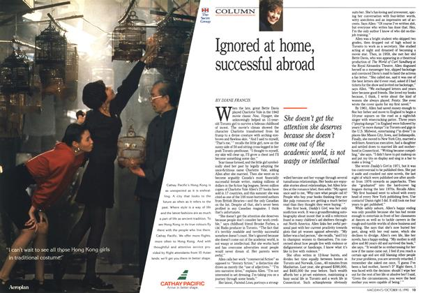 Article Preview: Ignored at home, successful abroad, October 1990 | Maclean's