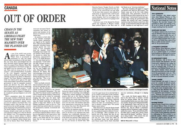 Article Preview: OUT OF ORDER, October 1990 | Maclean's
