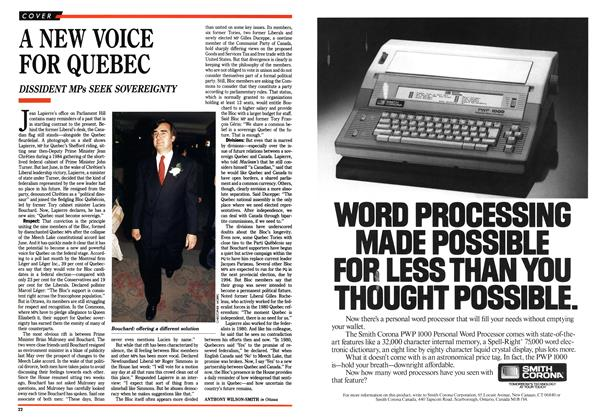 Article Preview: A NEW VOICE FOR QUEBEC, October 1990 | Maclean's
