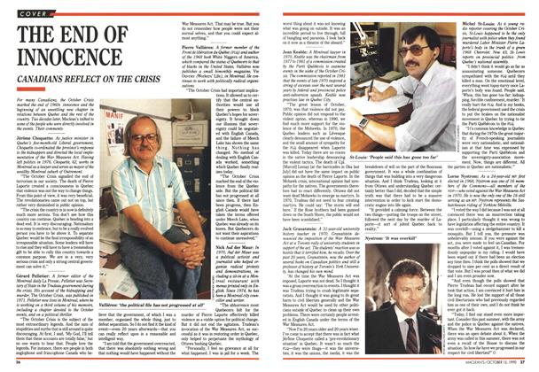 Article Preview: THE END OF INNOCENCE, October 1990 | Maclean's