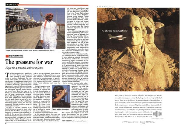 Article Preview: The pressure for war, October 1990 | Maclean's