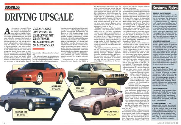 Article Preview: DRIVING UPSCALE, October 1990 | Maclean's